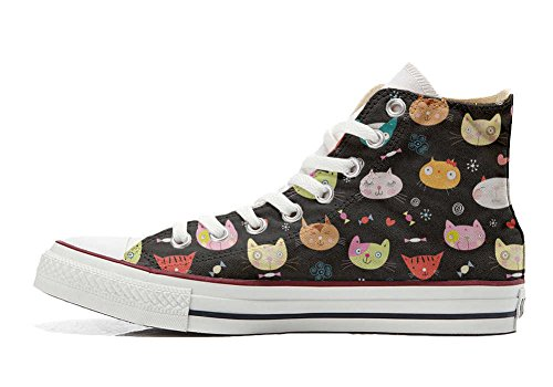 Artesano Zapatos All producto Converse Star Customized Little Kitten Personalizados My qvWWASB