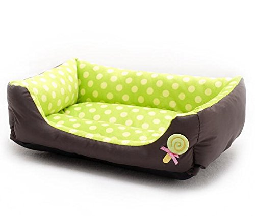 Cat Warmer Mat Warm Wave Point Lollipop Pet Nest Pet Supplies Green