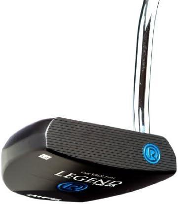 Rife Legend ブラックアルマイトヒールシャフト マレットゴルフパター 34インチ 右