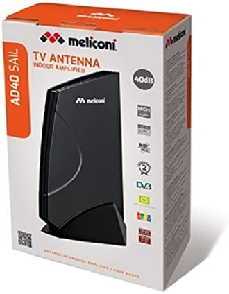 Meliconi 881041 - Antena amplificada TDT y DAB, 40 dB (220V)