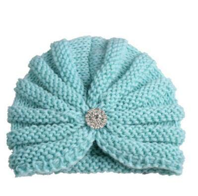 16ede068384 ... New Arrival Children caps Girls Rhinestone Hats India Dome Hats Kids  Winter Beanie Hats Baby Knitted caps Turban Hats  Amazon.in  Clothing    Accessories