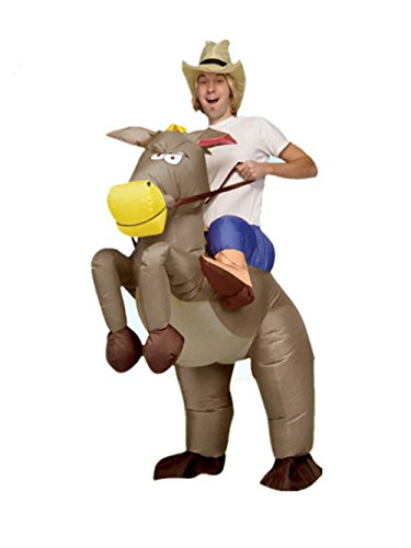 Adult Halloween Inflatable Costume Horse Riding Party Cosplay Outfits (Halloween Horse Riding Costumes)