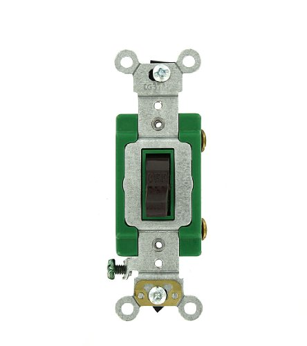 Pole 30 Amp (Leviton 3031-2 30 Amp, 120/277 Volt, Toggle Single-Pole AC Quiet Switch, Extra Heavy Duty Grade, Self Grounding,)