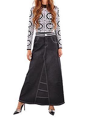 Style J Exquisite Elastic Long Denim Skirt