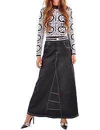 Exquisite Elastic Long Denim Skirt