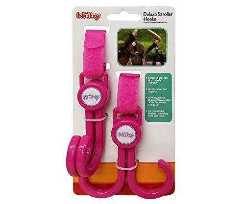 Nuby Deluxe Double Stroller Hooks