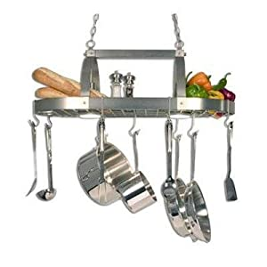 Country Kitchen Pot Rack With Down Lights