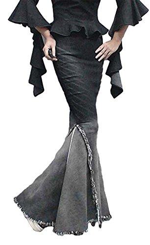 New AvaCostume Womens Gradient Tassels Fishtail Pencil Skirts