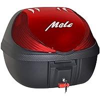 Bauleto Baú Moto Melc 36l Removível Universal C/Base preto/vermelho