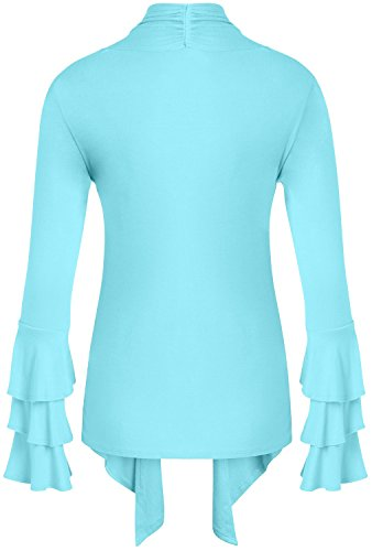 f7274cc4f6 Simlu Womens Open Front Cardigan Sweater Ruffle Long Sleeve Cardigan Reg  and Plus Size - Made