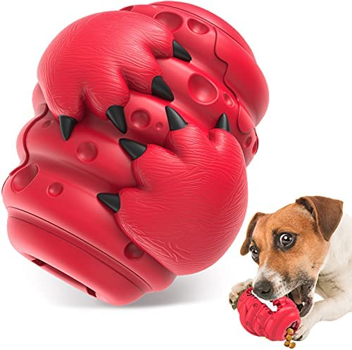 HETOO Dog Toys, Indestructible Tough Dog Chew Toys for Aggressive Chewers Medium Large Breed, Interactive Treat Dispensing Dog Toy