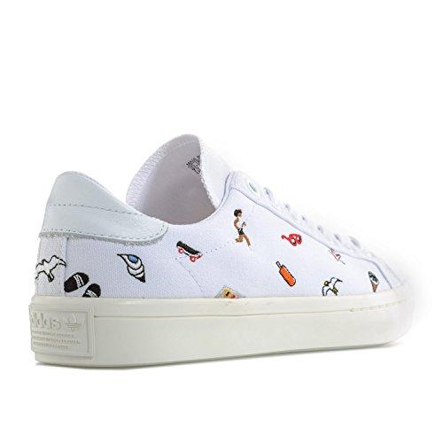 adidas Women's Courtvantage W Running Shoes, Bianco White