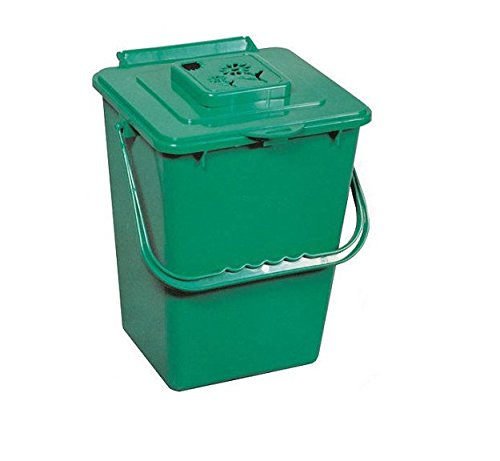 Green Eco Kitchen Compost Pail with Carbon Filter