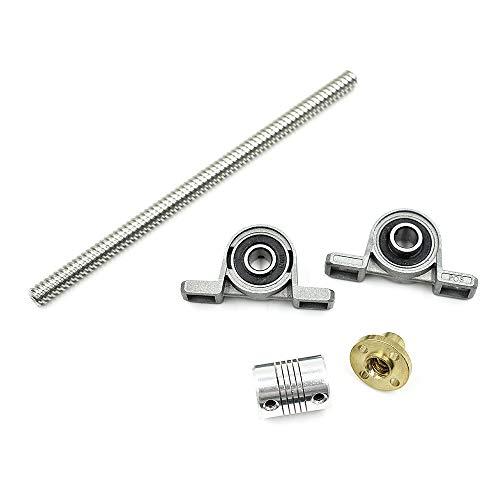 LICTOP 8mm 150mm T8 Trapezoidal Rod Lead Screw W/Nut Coupling Shaft Bearing Mount ()