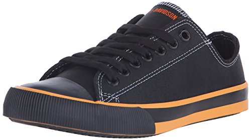 Harley-Davidson Women's Zia Vulcanized Shoe, Black/Orange, 9 M US