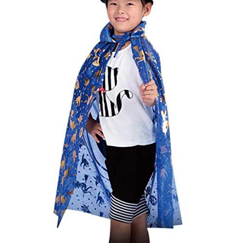 UONQD Halloween costume Golden Pumpkin shawl(Free Size,Blue) -