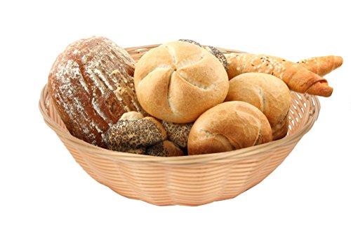 [ChefGiant 8-Inch Round Woven Bread Roll Baskets, Food Serving Baskets, Basket, Restaurant Quality, Polypropylene Material - Set of 6] (Restaurant Bread Baskets)