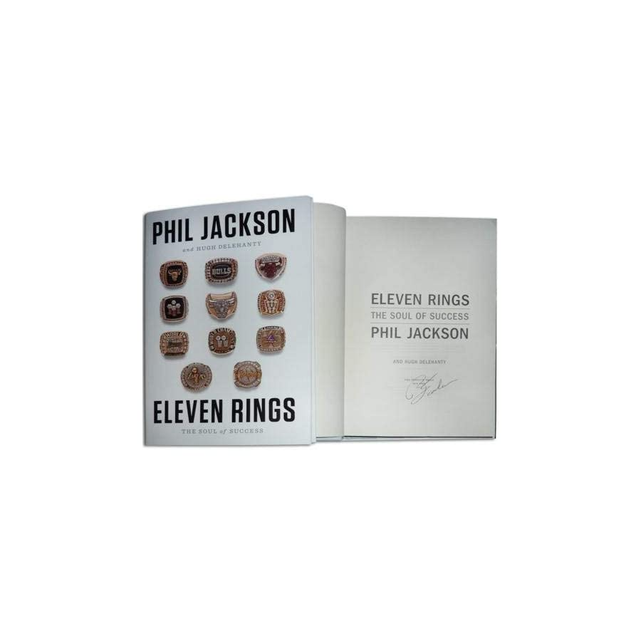 Phil Jackson Autographed Signed Auto Eleven Rings Book Certified Authentic