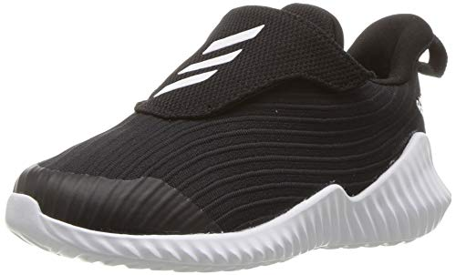 adidas Originals Unisex-Kids Fortarun Running Shoe, Black/White/Black, 5.5 M US Big -