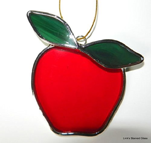 Art Glass Apple (Stained Glass Apple Sun Catcher)