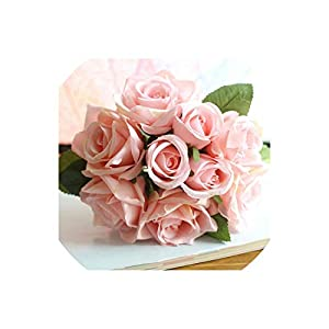 meet-you Wedding Bouquet Polyester Roses Holder Wedding Flowers Bridal Bouquets Artificial Bridesmaids Accessories Wedding Bouquet 109