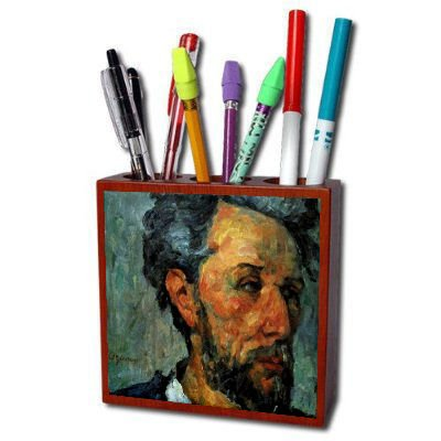 Portrait Of Victor Chocquet By Paul Cezanne Pencil Holder