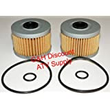 TWO OIL FILTERS WITH O-RINGS for 1998-2004 Honda TRX 450S 450ES Foreman ATVs