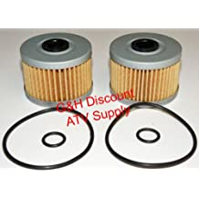 TWO OIL FILTERS WITH O-RINGS for Honda TRX 400EX & 300EX Sportrax ATVs
