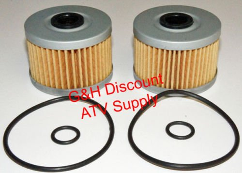 TWO OIL FILTERS WITH O-RINGS for the 1988-2000 Honda TRX300 Fourtrax 2x4 4x4