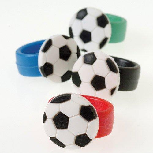 U.S. Toy Soccer Rubber Rings 1 Dozen -