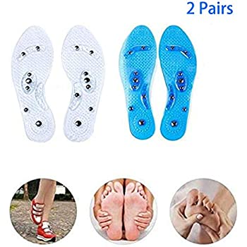 Magnetic Therapy Gel Massage Shoe Insoles Bio Inserts Neuropathy Foot Pain NEW