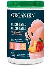 Organika electrolytes + Enhanced Collagen - Strawberry Peach Flavour - Hydration + protein 360 gram