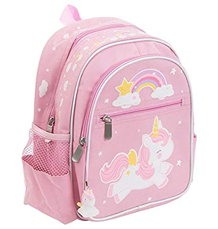 A Little Lovely Company Mini Unicornio - Mochila, unisex, color rosa