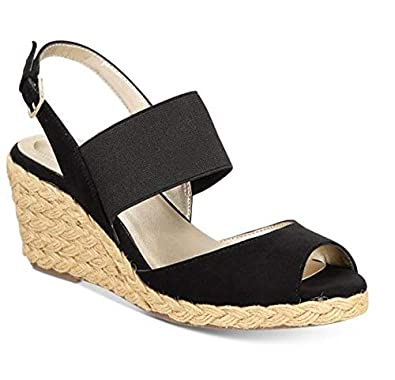 18cb1f334 Image Unavailable. Image not available for. Color  Bandolino Himeka  Espadrille Wedge Sandals