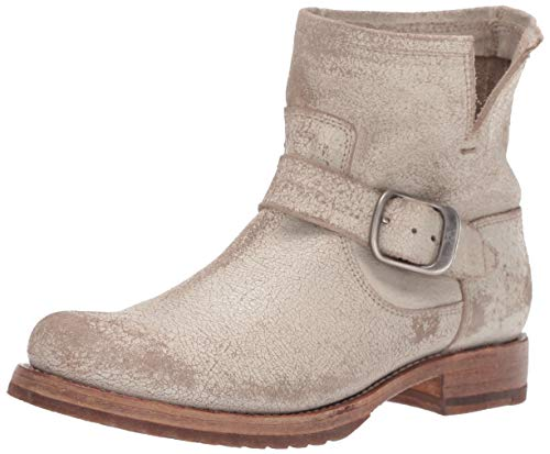 FRYE Women's Veronica Bootie Ankle Boot, Off White, 7.5 M US