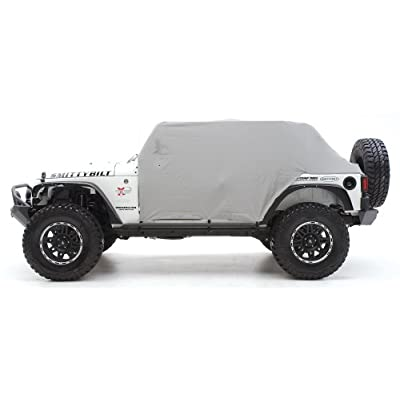 Smittybilt 1069 Gray Water-Resistant Cab Cover with Door Flap: Automotive