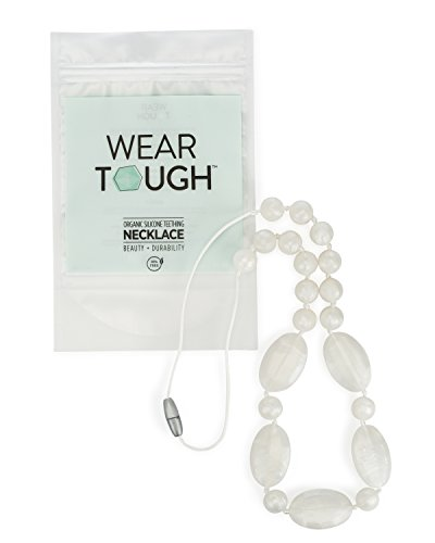 Teething Necklace Wear Tough White
