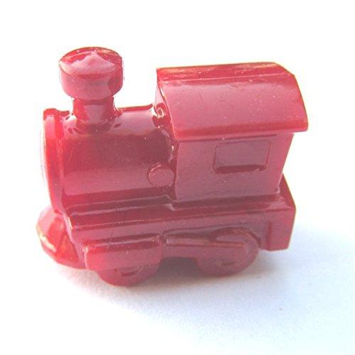 25 Red Train Beads