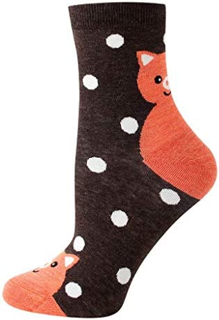 1ペアの女性の綿の靴下動物キャラクタードットプリント女性の冬の靴下ソックス 靴下 サーモソックス ビジネスソックス スポーツソックス 脱げない 抗菌防臭 吸収速乾 通気性抜群