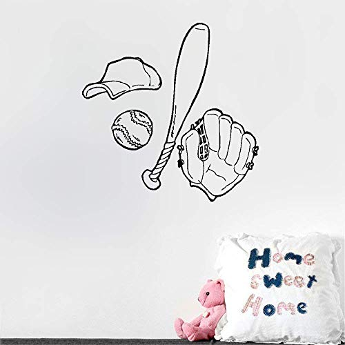 Baseball Lemon Peel (bluook Room Decor Stickers Wall Words Sayings Removable Lettering Baseball Sport American Game for Sport Fans Boys Room)