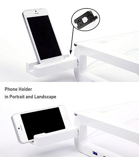 Sunnone UBOARD SMART 3.0 - Tempered Glass Monitor Stand Shelf Built-in 3 x USB 3.0 Hub - Black by U-board (Image #5)