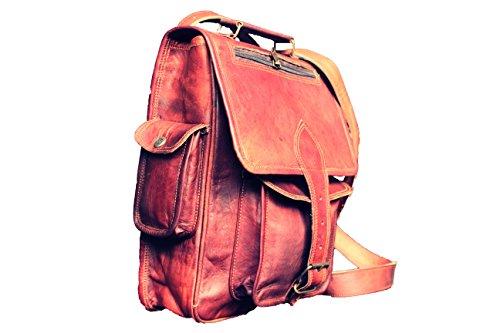 Leather Saddler Vintage Leather Laptop Backpack Shoulder Messenger Bag 15 Inch - Bean Watches Mens Ll