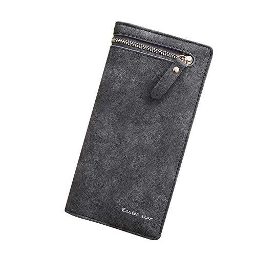 (Fashion99 Women Wallet Simple Zip Long Bag Suede leather Purse Solid color Bag)