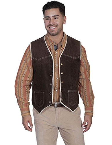 Scully Men's Boar Suede Leather Vest Chocolate X-Large