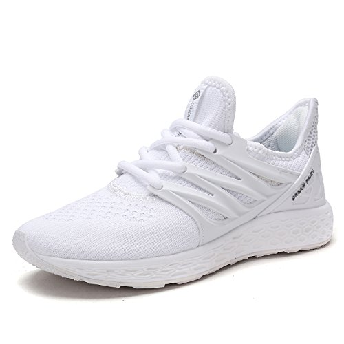 DREAM PAIRS Women's 170330-W White Comfortable Soft Lace-up Running Shoes Size 9.5 M US
