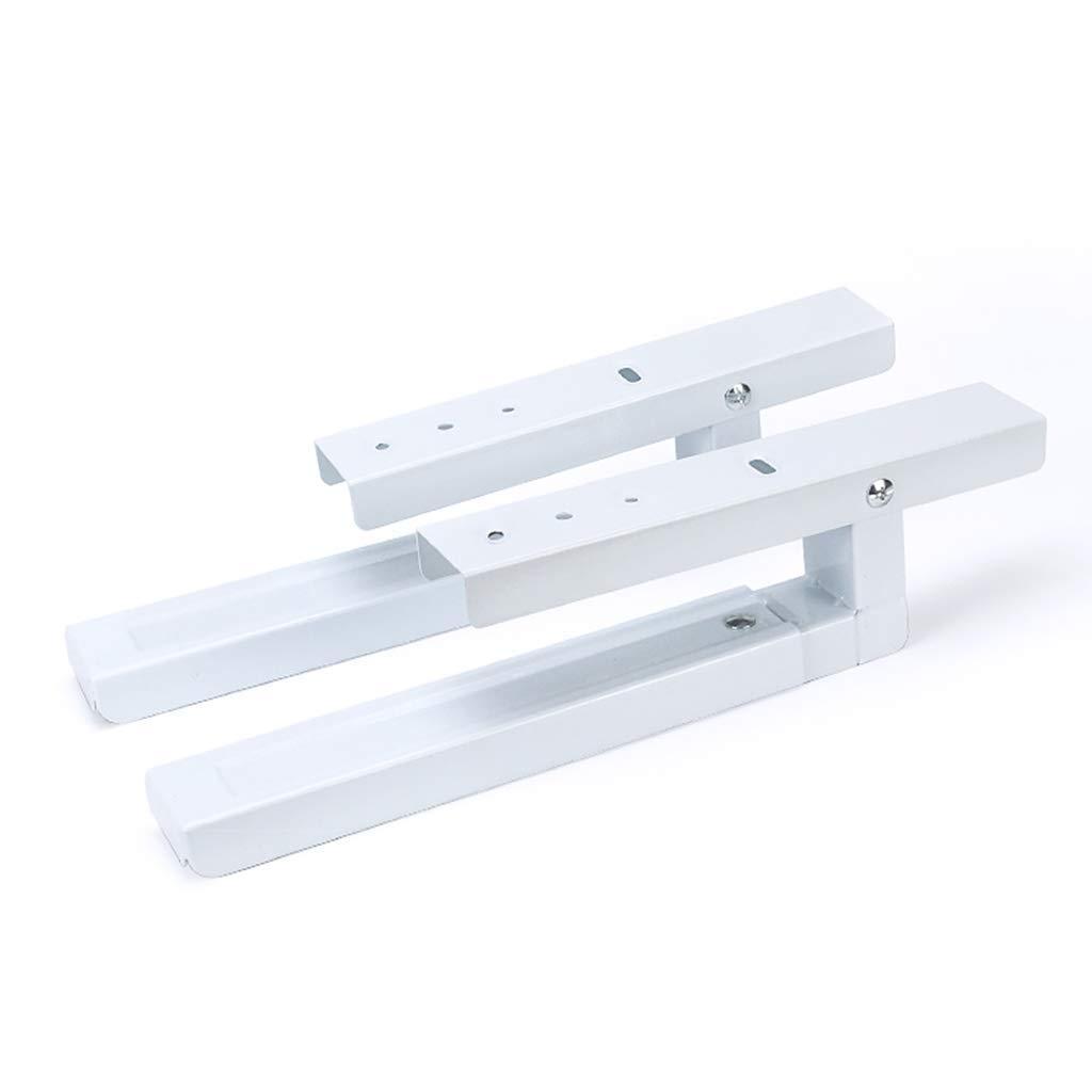 M/áX Adecuado para Todas Las Microondas Peso del Microondas 40 Kg Negro//Blanco - 2 Piezas MY1MEY Soporte Universal para Montaje En Microondas con Brazos Extensibles