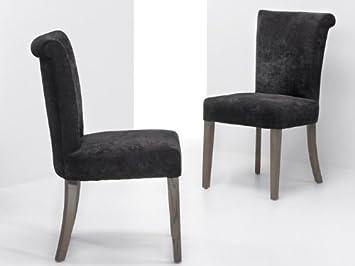 Verona totale chêne canett chaise de bureau tissu noir amazon