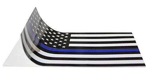 Thin Blue Line (2 Pack) Reflective ! Blue Lives Flag Decals Sticker 3x5 Blue Lives Matter (Best Matters)