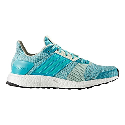 Adidas Performance Dames Ultra Boost Street Hardloopschoenen Energy Blue / Easy Green / Linen Green