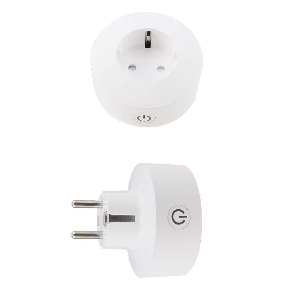 RSHI Smart Plug Mini WiFi enchufe funciona con  Alexa Google Assistant, temporizador de control remoto, enchufe inteligente, no requiere buje, compatible con CE y IFTTT